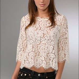 3d9bf5657cc85 Joie Tops - Joie Elvia Nude Lace Crop top
